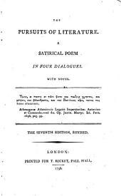 The pursuits of literature, a poem [by T.J. Mathias].
