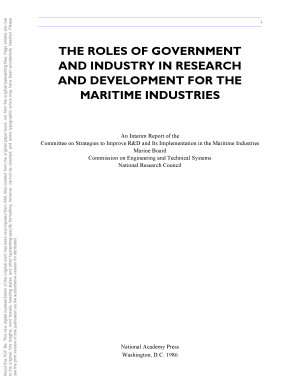 The Roles of Government and Industry in Research and Development for the Maritime Industries