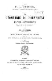 La géométrie du mouvement, exposé synthétique, tr. de l'allemand par Ch. Speckel: Éd. rev. et augm. par l'auteur, suivie de notions géométriques sur les complexes et les congruences de droites, par G. Fouret