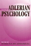 Techniques In Adlerian Psychology