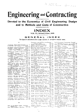 Engineering and Contracting: Volumes 51-52