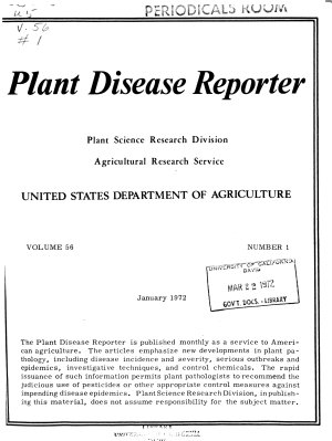 The Plant Disease Reporter PDF