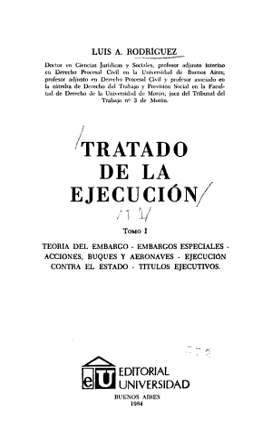 Tratado de la ejecuci  n