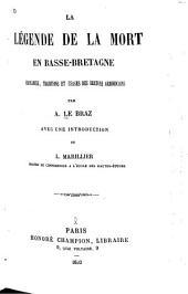 La légende de la mort en Basse-Bretagne: croyances, traditions et usages des Bretons armoricains