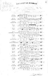 Robert le diable: opéra en 5 actes ; catalogue thématique des morceaux détachés avec accompt. de guitare. Valse infernale, Volume 10