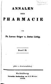 Annalen der Pharmacie: Bände 9-10