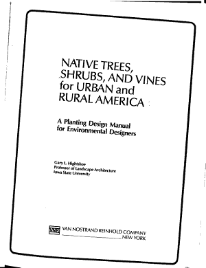 Native Trees  Shrubs  and Vines for Urban and Rural America PDF