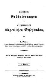 Ausfuhrliche Erlauterungen des Allgemeinen Burgerlichen Gesekbuches