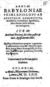 De historia certaminis Apostolici, libri 10. Julio Africano interprete