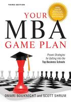 Your MBA Game Plan  Third Edition PDF