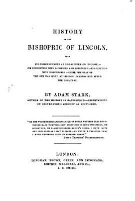 History of the bishopric of Lincoln PDF