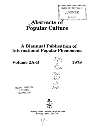 Abstracts of Popular Culture PDF