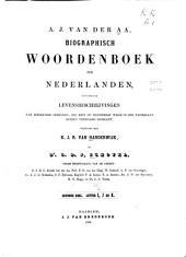 Biographisch woordenboek der Nederlanden: bevattende levensbeschrijvingen van zoodanige personen...