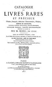 Veilingcatalogus, boeken M. Morel, 25-30 juni 1873