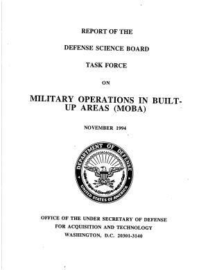 Report of the Defense Science Board Task Force on Military Operations in Built Up Areas  MOBA