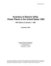 Inventory of Electric Utility Power Plants in the United States 1999 with Data as of January 1, 1999