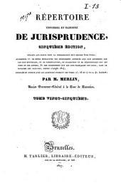Répertoire universel et raisonné de jurisprudence: Volume25