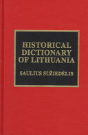 Historical Dictionary of Lithuania PDF