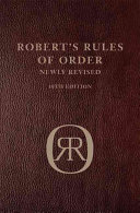 Robert's Rules Of Order 10th Ed Leatherbound Leatherbound