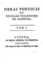 Obras poeticas de Nicoláo Toletino de Almeida: Volume 1