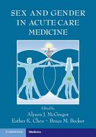 Sex and Gender in Acute Care Medicine PDF