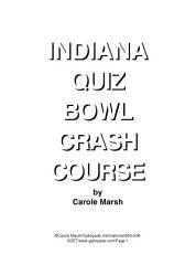 Indiana Quiz Bowl Crash Course  PDF