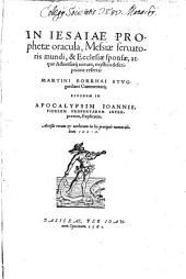 In Jesaiae Prophetae Oracula ... Commentarii
