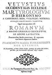 Vetustius occidentalis ecclesiae martyrologium