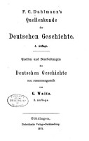 F C  Dahlmann s Quellenkunde der deutschen Geschichte PDF