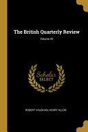 The British Quarterly Review  Volume 42 PDF