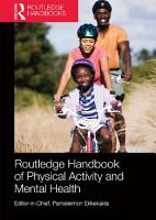 Routledge Handbook of Physical Activity and Mental Health PDF