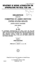 Department of Defense Authorization for Appropriations for Fiscal Year 1986  Preparedness PDF