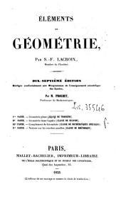 Cours de mathematiques: Elements de geometrie