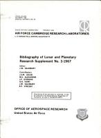 Bibliography of Lunar and Planetary Research Supplement No  3 1967 PDF