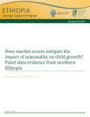 Does market access mitigate the impact of seasonality on child growth?