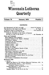 Wisconsin Lutheran Quarterly PDF