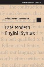 Late Modern English Syntax PDF