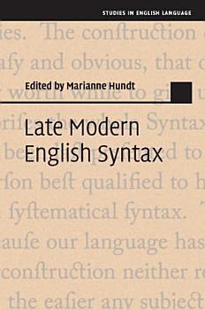 Late Modern English Syntax PDF