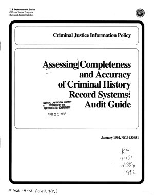 Assessing Completeness and Accuracy of Criminal History Record Systems PDF