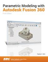 Parametric Modeling with Autodesk Fusion 360 PDF