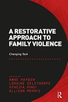 A Restorative Approach to Family Violence PDF