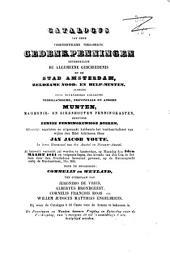 Catalogus van het penning- en muntkabinet ...