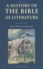 A History of the Bible as Literature: From antiquity to 1700