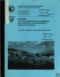 Stateline Resource Area  Management Plan PDF