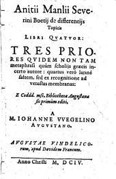 De differentijs topicis libri quatuor