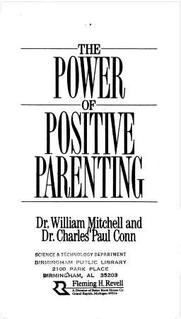 The Power of Positive Parenting PDF