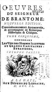 Oeuvres du seigneur de Brantome: Volume1
