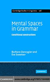 Mental Spaces in Grammar: Conditional Constructions