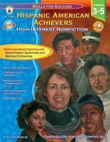 Hispanic American Achievers  Grades 3   5 PDF