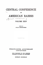 Annual Convention - Central Conference of American Rabbis: Volume 24